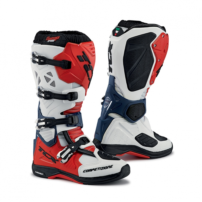 TCX COMP EVO MICHELIN BOOTS (White/Red/Blue)
