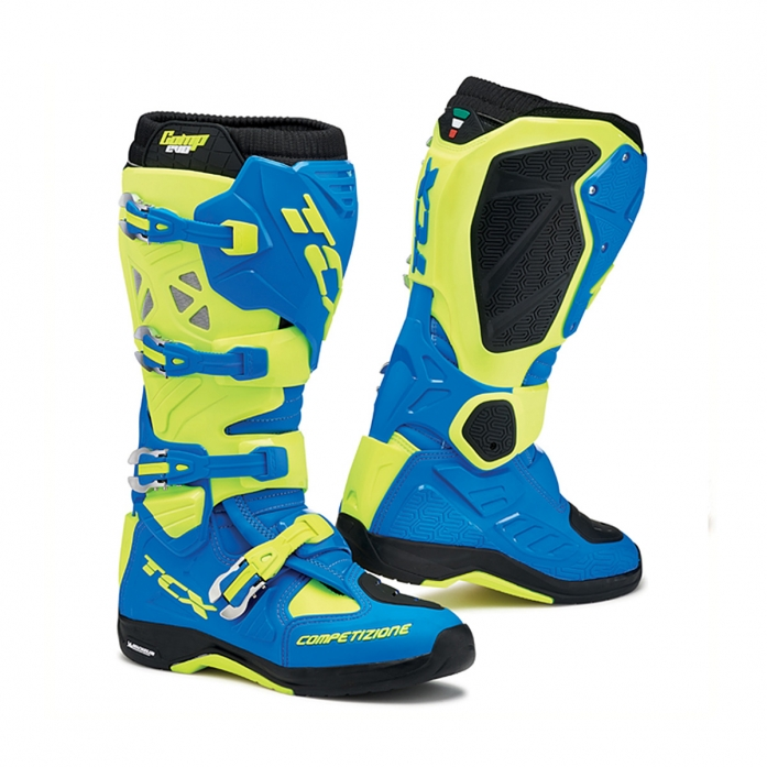 TCX COMP EVO MICHELIN BOOTS (royal blue/ yellow)