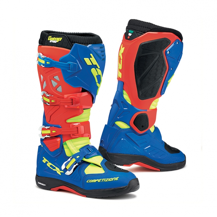 TCX COMP EVO MICHELIN BOOTS (red/bright blue/yellow)