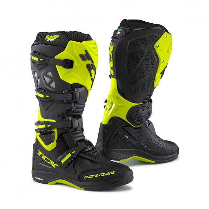 TCX COMP EVO MICHELIN BOOTS (black-yellow fluo)