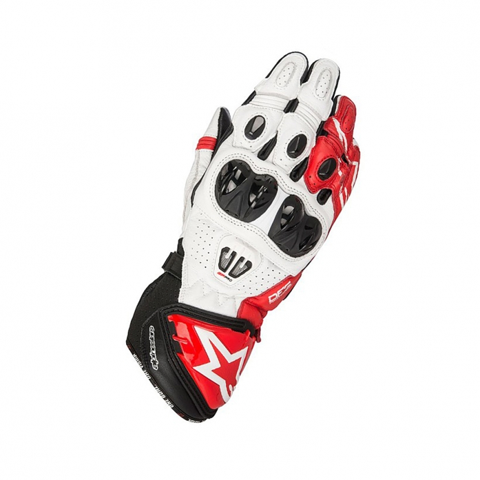 알파인스타즈 GP PRO R2 LEATHER GLOVES B/W/R