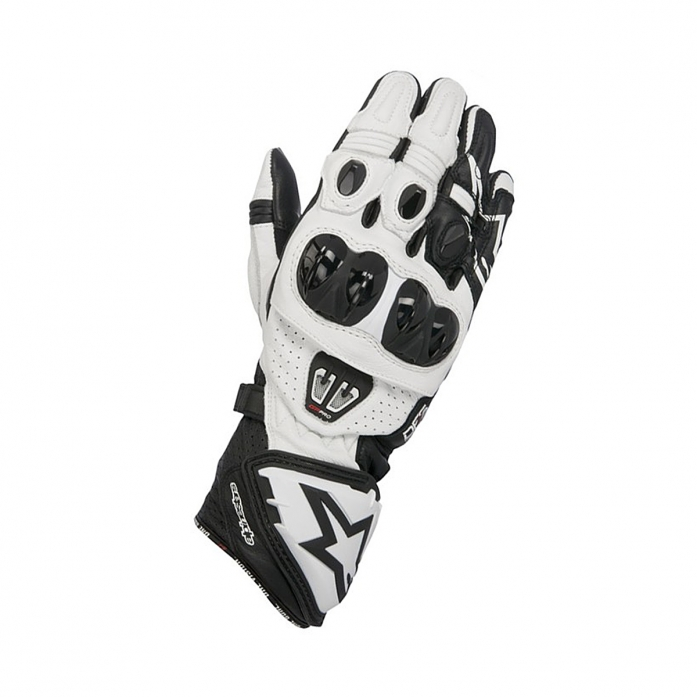 알파인스타즈 GP PRO R2 LEATHER GLOVES B/W