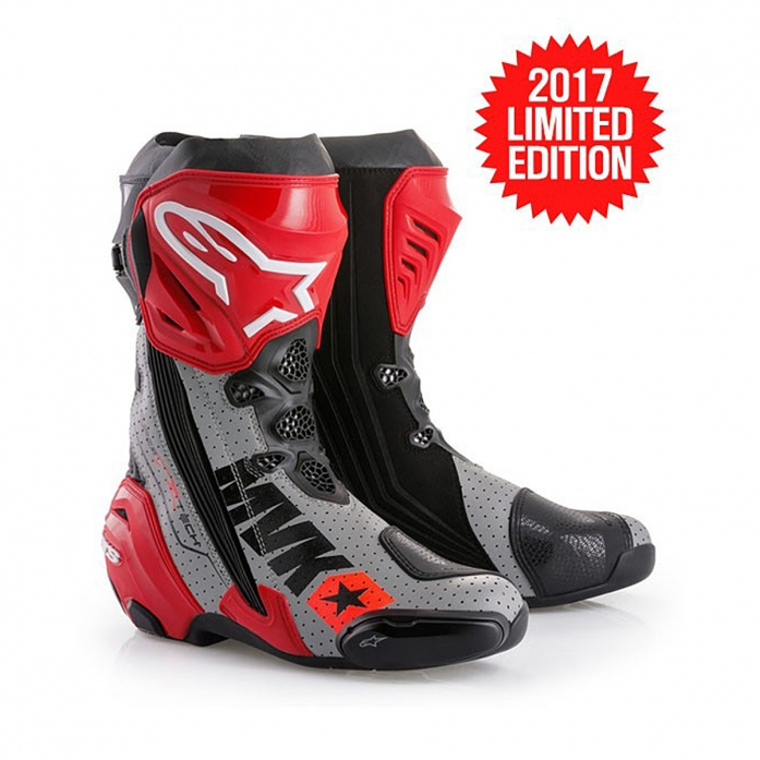 MACH 1 SUPERTECH R BOOTS BLACK/RED/GRAY