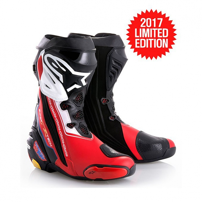 VICTORY SUPERTECH R BOOTS BLACK/WHITE/RED