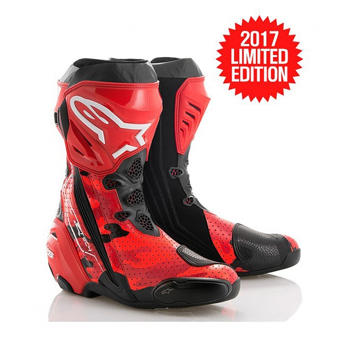 99CAMO SUPERTECH R BOOTS RED CAMO/BLACK VENTED