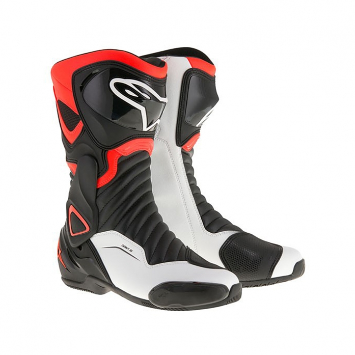 SMX-6 V2 BOOTS BLACK/RED FLUO/WHITE