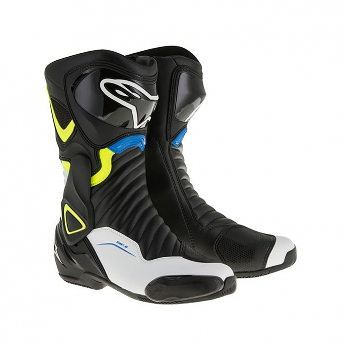 SMX-6 V2 BOOTS BLACK/YELLOW FLUO/BLUE