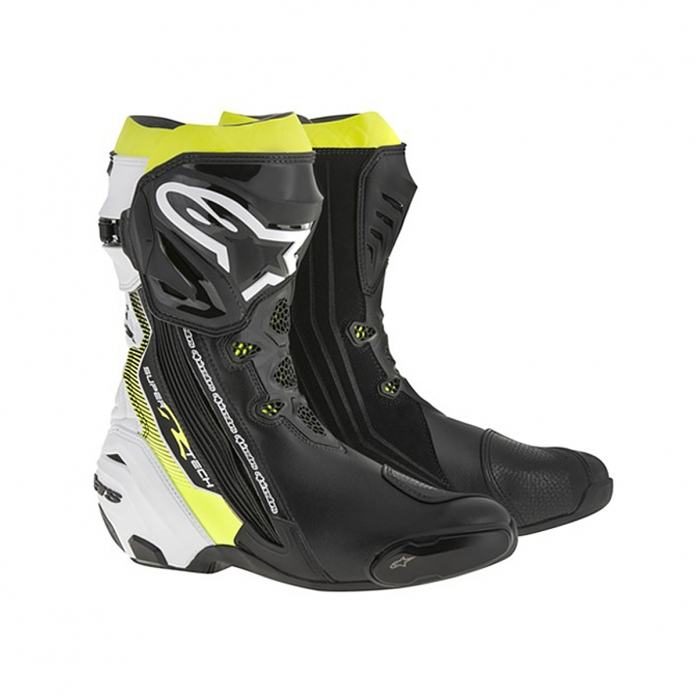 SUPERTECH R BOOTS BLACK/WHITE/YELLOW FLUO