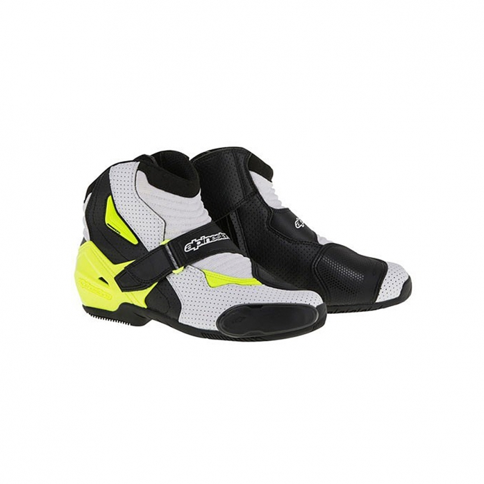 SMX-1 R VENTED BOOTS BLACK/WHITE/YELLOW FLUO