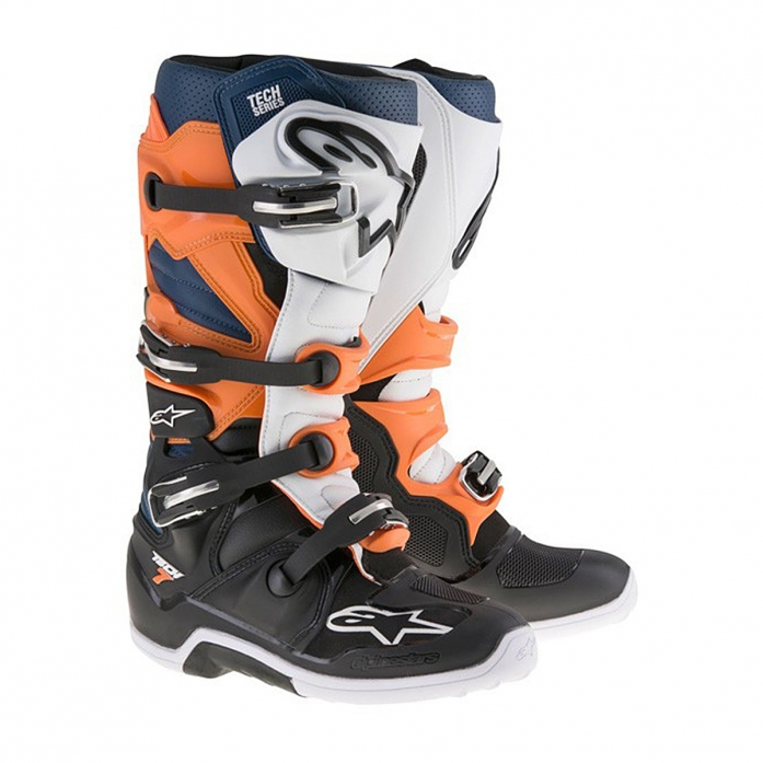 TECH 7 BLACK/ORANGE/BLUE/WHITE