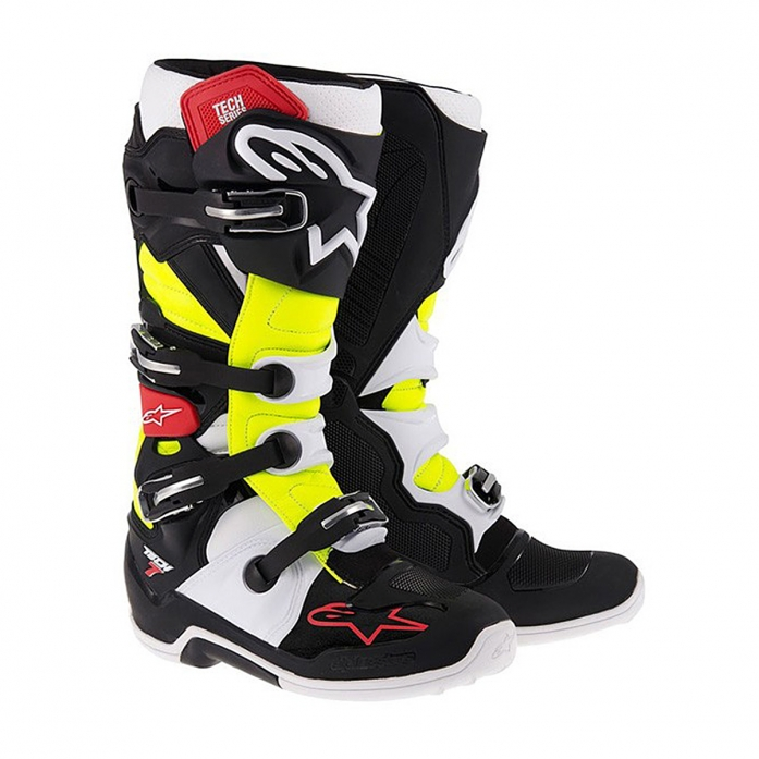 TECH 7 BLACK/RED/YELLOW FLUO
