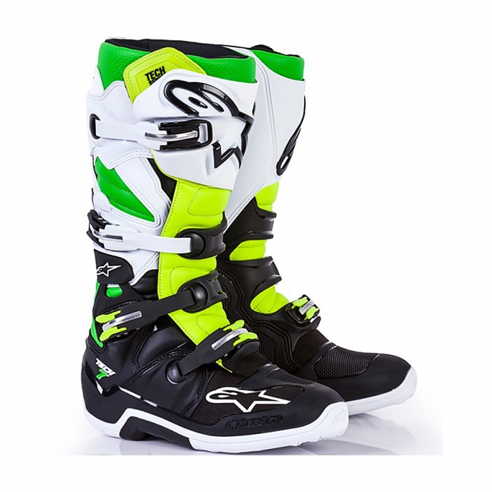 TECH 7 BLACK/WHITE/GREEN/YELLOW FLUO