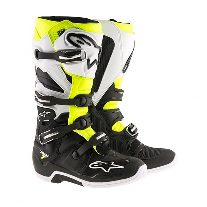 TECH 7 BLACK/WHITE/YELLOW FLUO