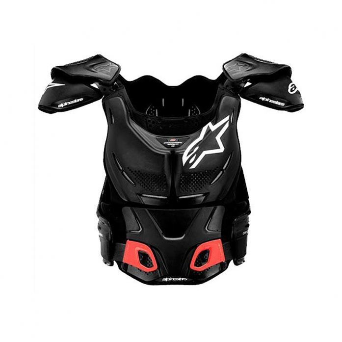 A-8 BODY PROTECTOR BLACK/WHITE