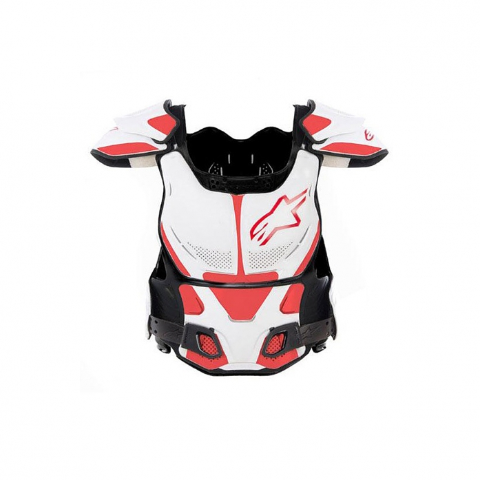 A-8 BODY PROTECTOR WHITE/RED