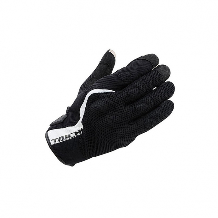 RS타이치 RST431 RUBBER KNUCKLE MESH GLOVE BLACK/WHITE
