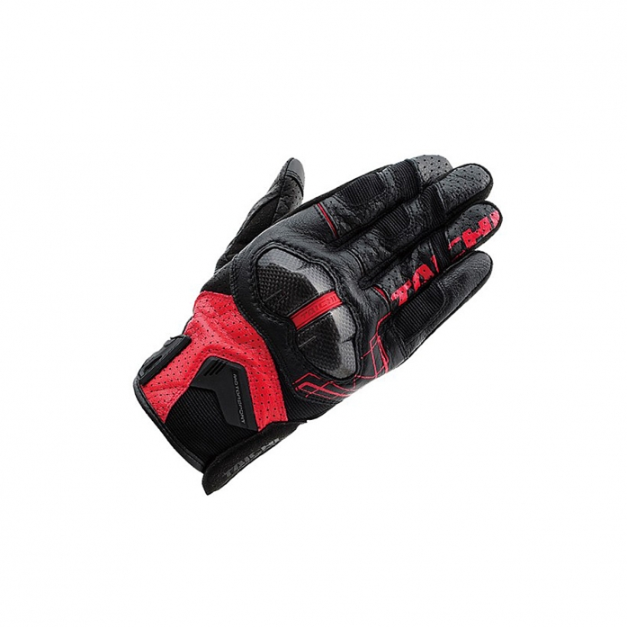 RS타이치 RST426 ARMED LEATHER MESH GLOVE BLACK/RED
