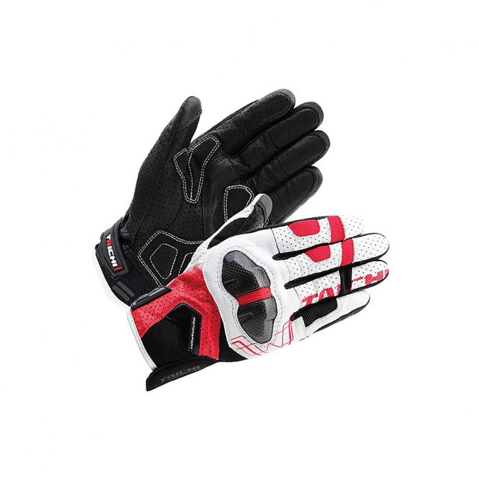 RS타이치 RST426 ARMED LEATHER MESH GLOVE RED