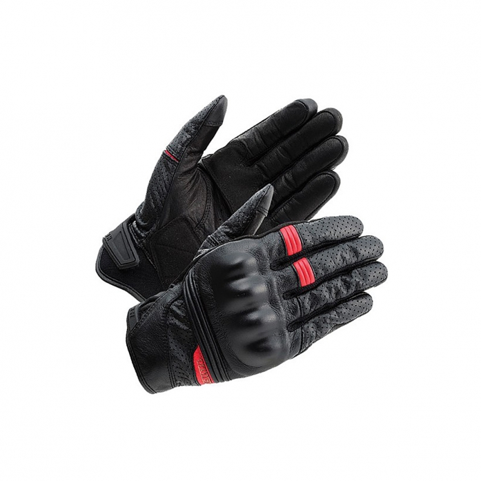 RS타이치 RST434 STEALTH LEATHER MESH GLOVE BLACK/RED
