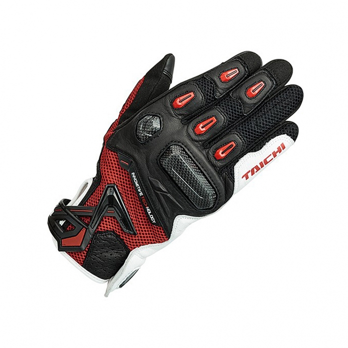RS타이치 RST442 RAPTOR MESH GLOVE WHITE/RED