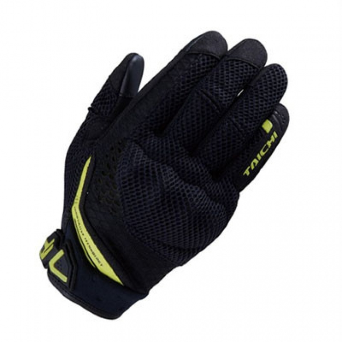 RS타이치 RST447 RUBBER KNUCKLE MESH GLOVE  B/NEON