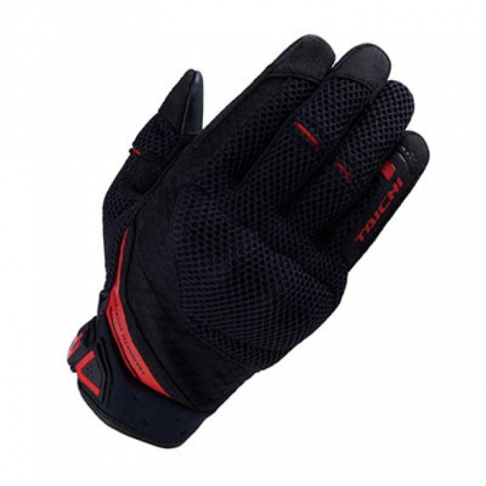 RS타이치 RST447 RUBBER KNUCKLE MESH GLOVE  B/R