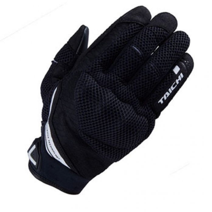 RS타이치 RST447 RUBBER KNUCKLE MESH GLOVE  B/W