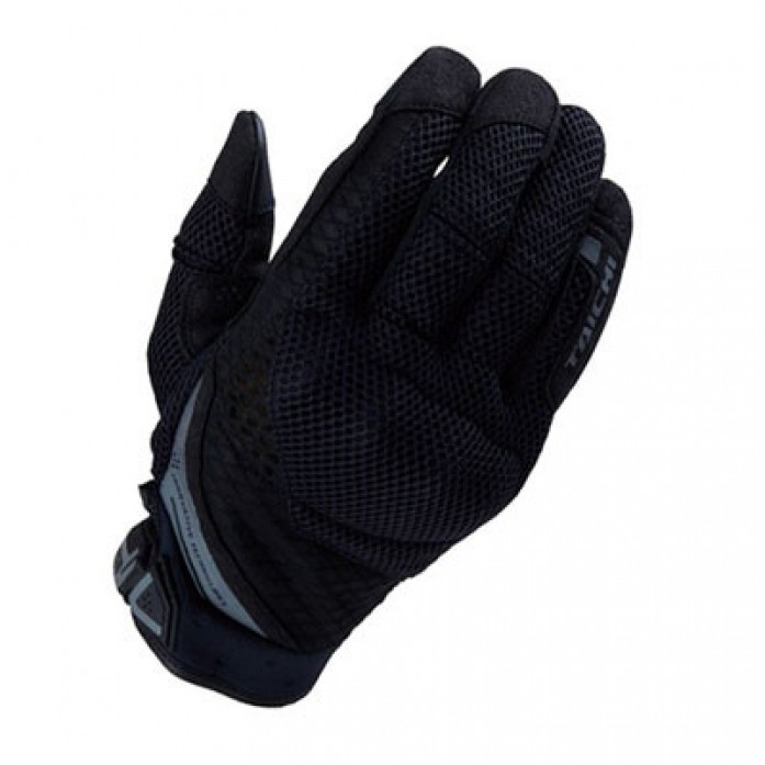 RS타이치 RST447 RUBBER KNUCKLE MESH GLOVE  BLACK