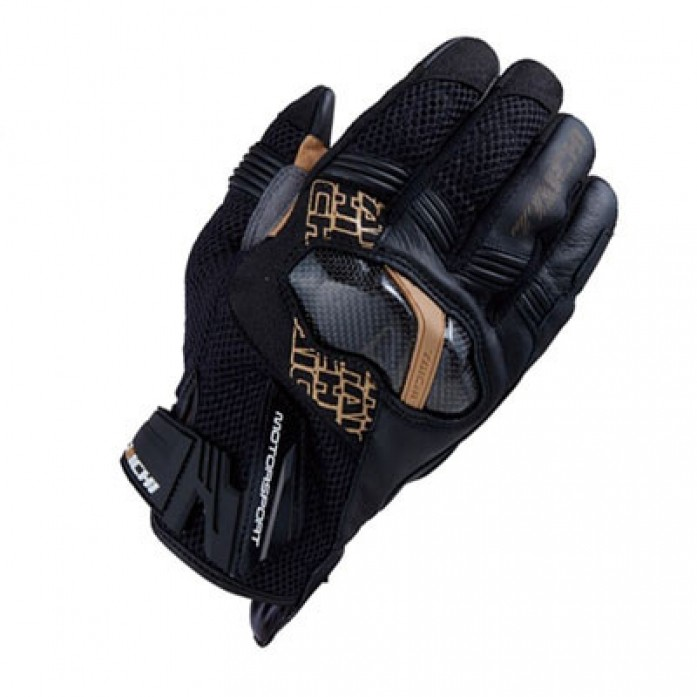 RS타이치 RST448 ARMED MESH GLOVE B/GOLD