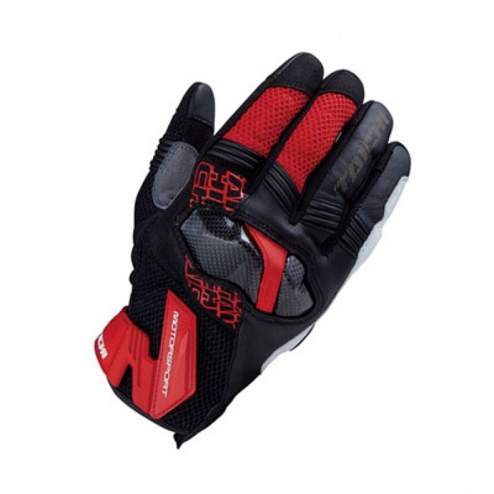 RS타이치 RST448 ARMED MESH GLOVE RED