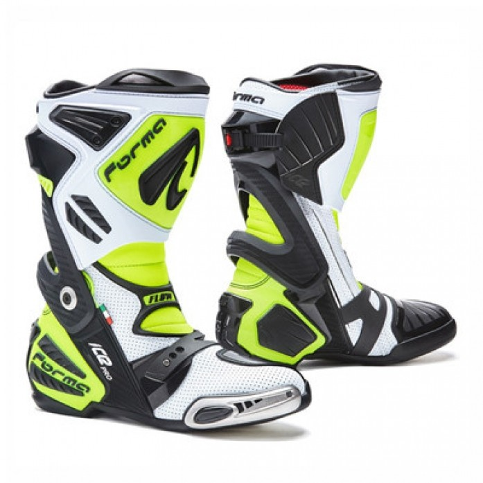 FORMA ICE PRO FLOW -WHITE-BLACK-YELLOW (여름용) RACING BOOTS