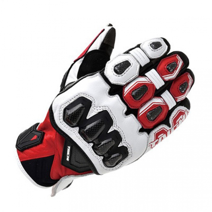 RS타이치 RST422 HIGH PROTECTION LEATHER GLOVE WHT/RED