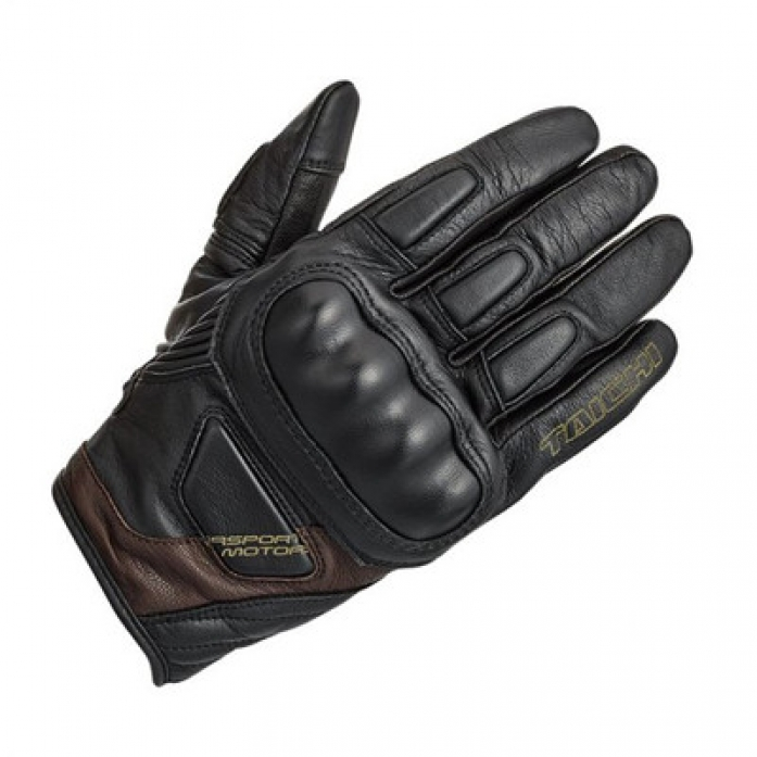 RS타이치 RST445 STEALTH LEATHER GLOVE BLK/BROWN