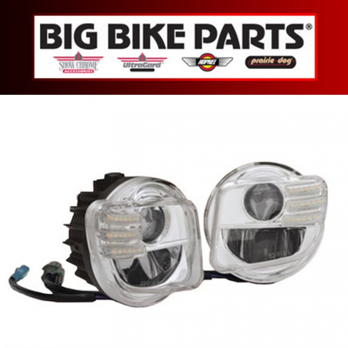 Bigbikeparts(빅바이크파츠) Honda(혼다) '13~'17 F6B Tridium LED Fog Light Kit(LED 포그 라이트 킷)52-916
