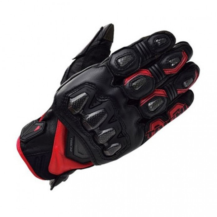 RS타이치 RST422 HIGH PROTECTION LEATHER GLOVE BLACK/RED