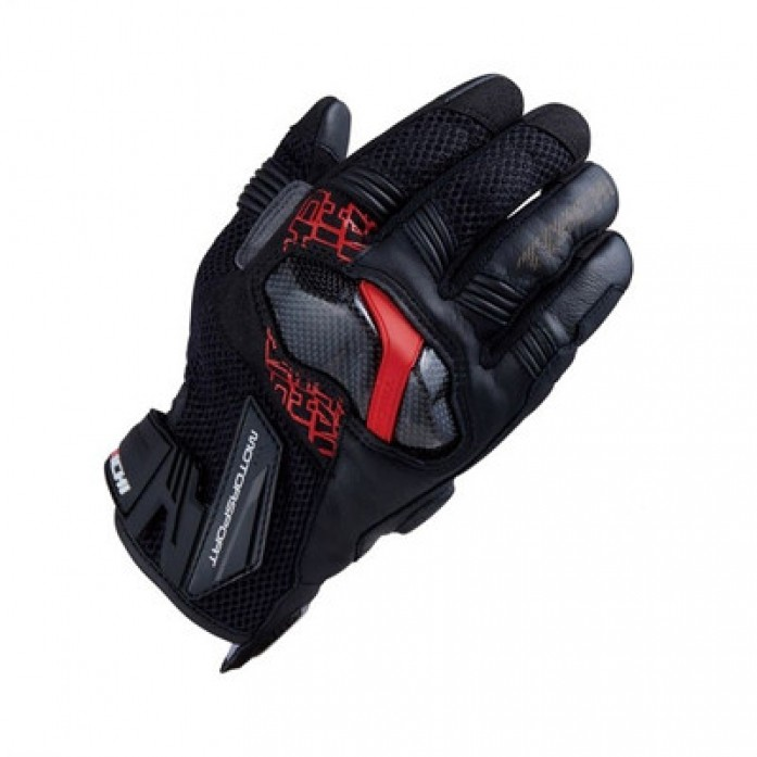 RS타이치 RST448 ARMED MESH GLOVE BLACK/RED